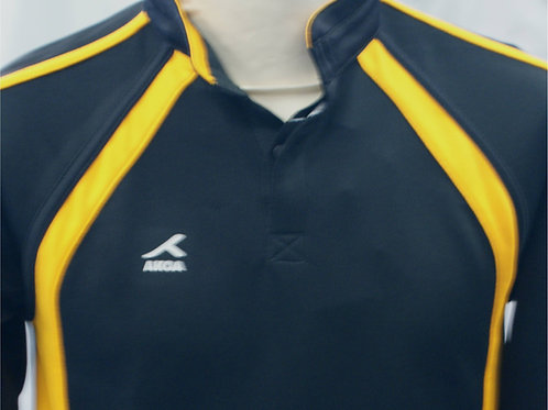 Black and Gold Rugby Top with Logo