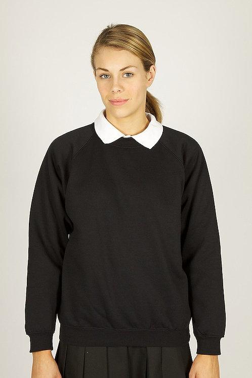 Plain Black Woodbank Sweatshirt