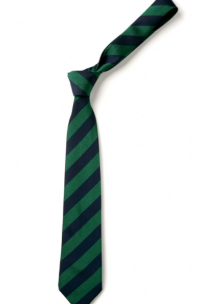 Navy/Green Striped Tie (No.4)