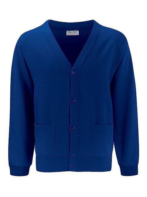 Deep Royal  'Blue Max' Sweatshirt Cardigan