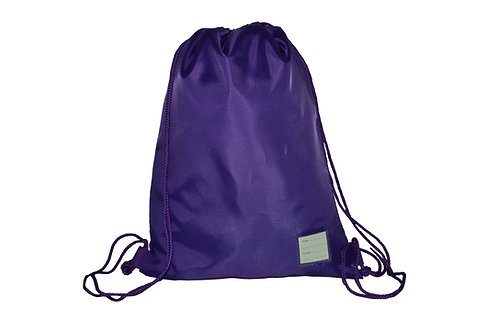 Purple Drawstring PE Bag