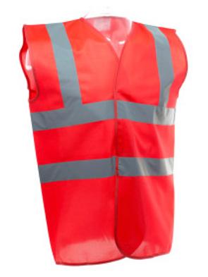 Red Hi-Vis Vest  (Yoko YK001)