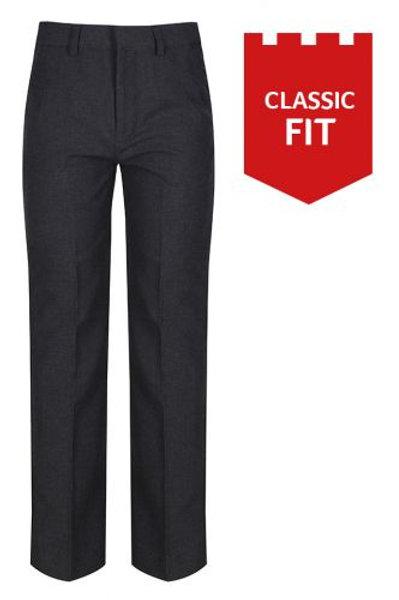 Classic fit elastic back trouser