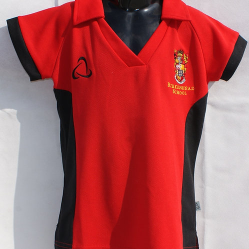 Girls Black and Red Games Shirt