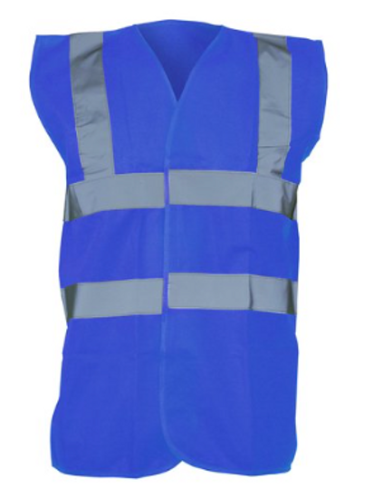 Royal Blue Hi-Vis Vest  (Yoko YK001)
