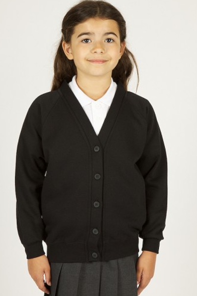 Black Sweatcardy with Pulford Playgroup Logo