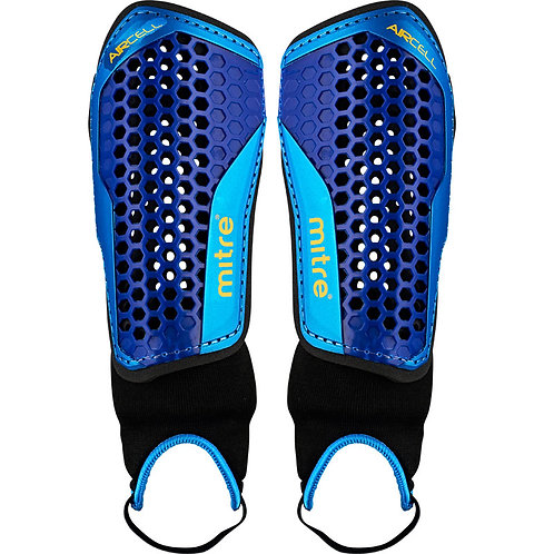 BHSA Mitre Aircell Shin Guard (Ankle Protection)