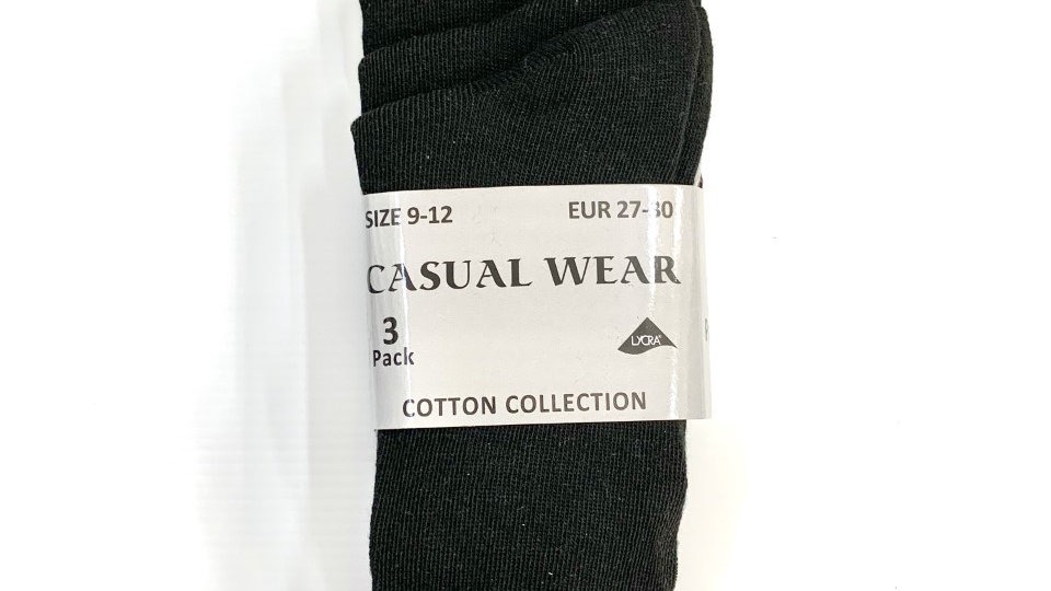 Short Black School Socks (3-Pack)