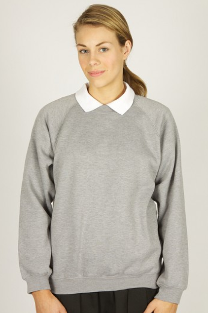 Grey Sweatshirt with West Kirby Primary Logo