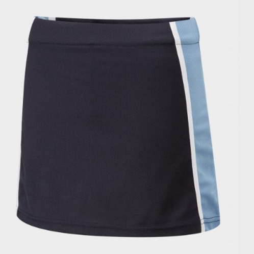 Navy and Sky Panelled PE Skort with Green Meadow Logo