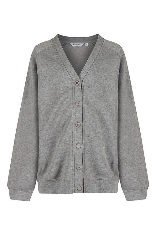 Grey Sweatcardy with Mendell Logo