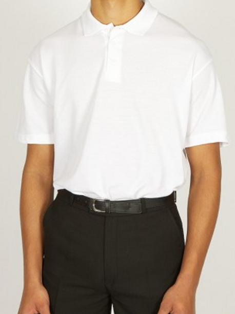 White Polo Shirt with Foxfield Logo