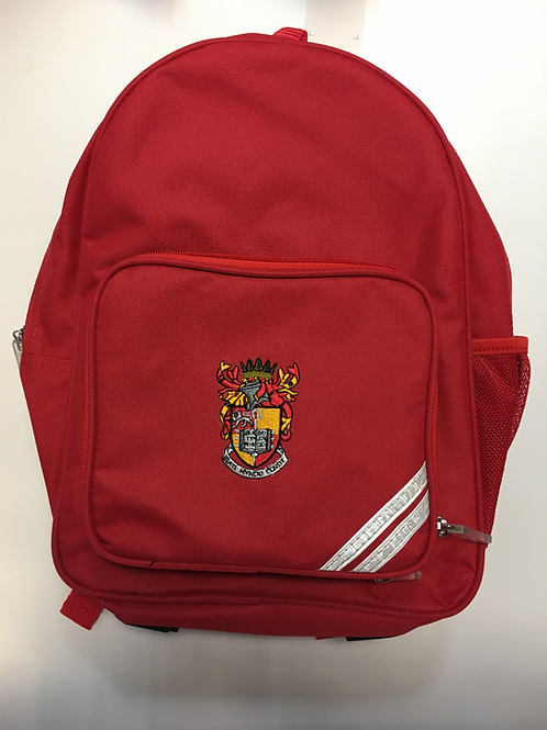 Red Infant Backpack with School Logo
