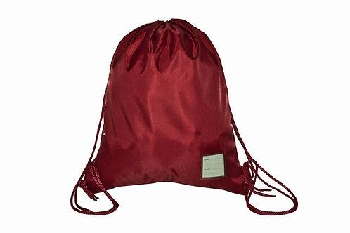 Maroon Drawstring PE bag