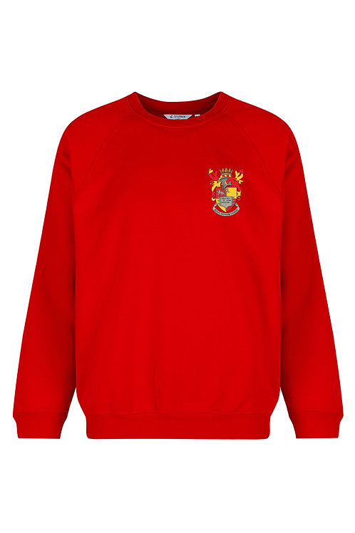 Red Sweatshirt with School logo