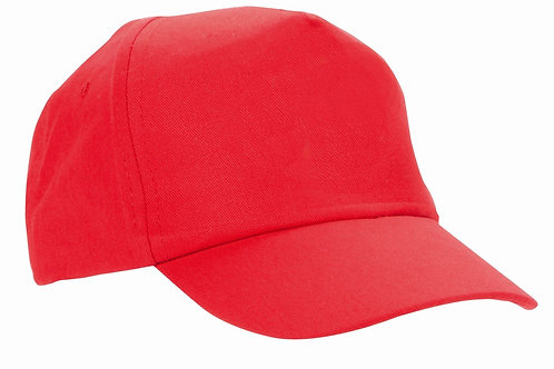 Red Baseball Cap (Plain or Embroidered)