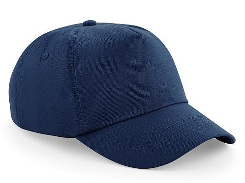 Navy Summer Cap with Green Meadow Logo