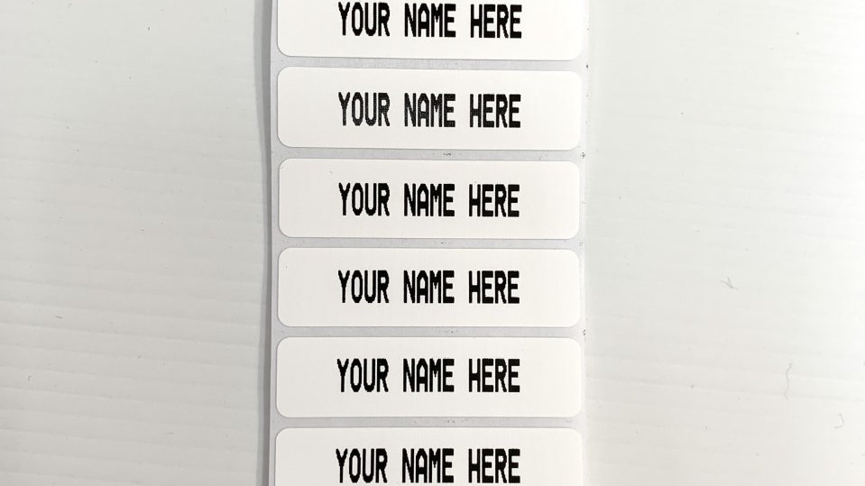 20 Iron-on Name Labels