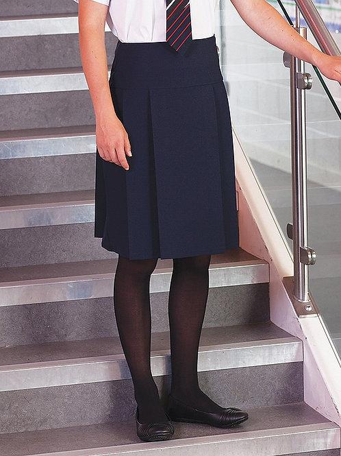Navy Prenton Multipleat Skirt