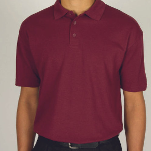 Maroon Polo Shirt with Building Blocks Pre Logo