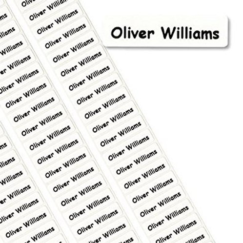20x Iron-on Name labels