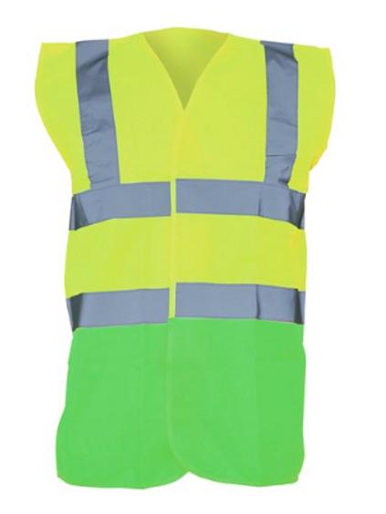Yellow / Lime  Hi-Vis Vest  (Yoko YK001)