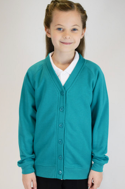Jade Plain Trutex Sweatcardy