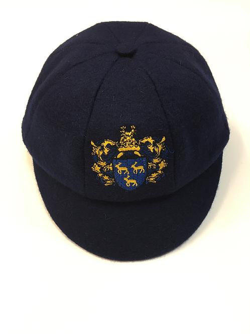 Boys Navy Cap with Green Meadow Logo