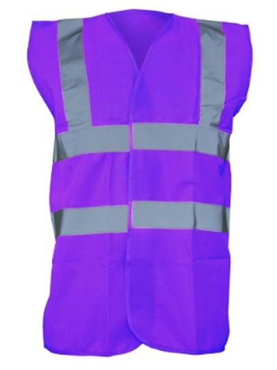 Purple Hi-Vis Vest  (Yoko YK001)