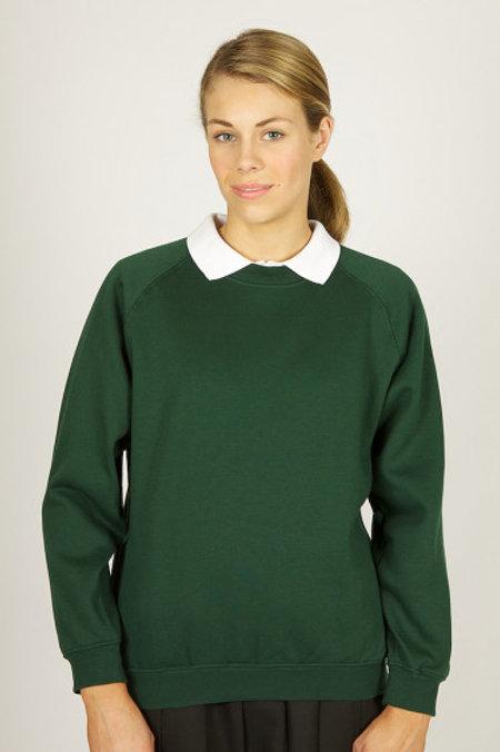 Green Round Neck Sweatshirt w/ Bedford Drive Logo