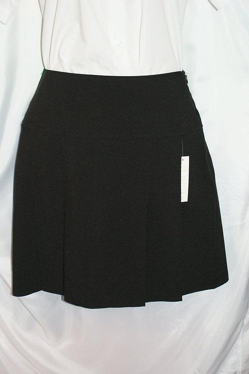 Black Multipleat Senior Skirt