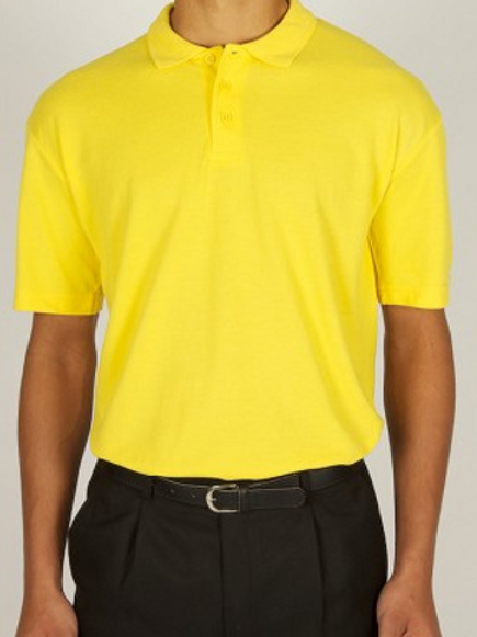 Yellow Polo Shirt with Church Drive Logo