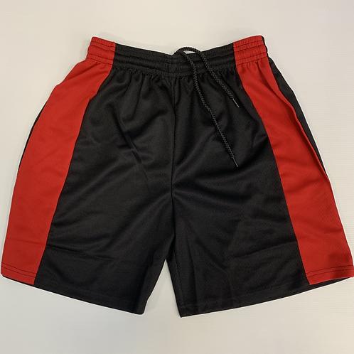 Black/Red PE Shorts ( Unisex)