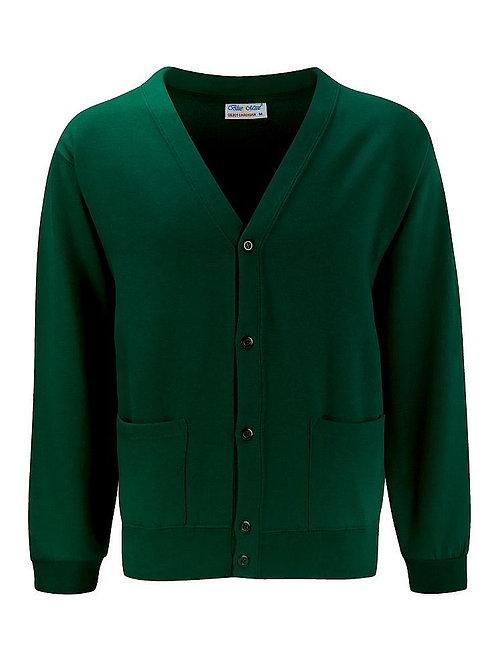 Bottle Green  'Blue Max'  Sweatshirt Cardigan