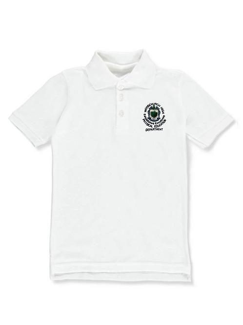 White PE Polo with W.church Logo (Boys)