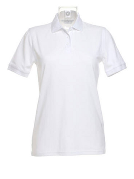 White KK703 Women's Klassic Polo