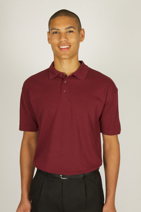 Maroon Polo Shirt with Winstons Place Logo
