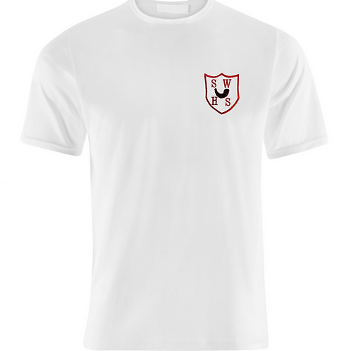 White PE Tshirt with South Wirral Logo (Girls)