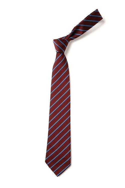 Maroon and Sky Thin Stripe Tie (No. 34)