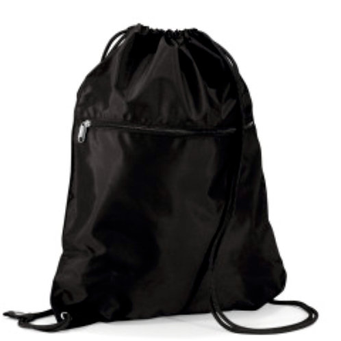 Black Upton Drawstring Bag