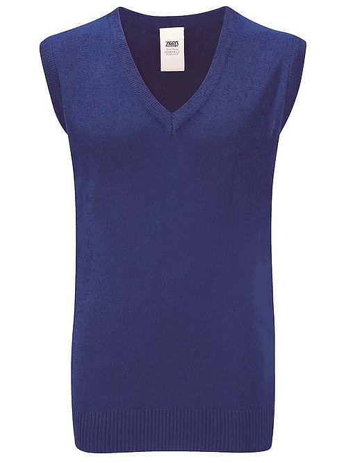 Royal Knitted Tank Top with Ladymount Logo