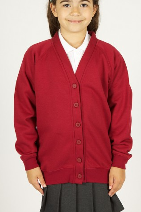 Wine Sweatcardy with Pensby Logo
