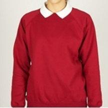 Wine  Sweatshirt (Crewneck) with Pensby Logo