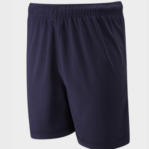 Navy PE Shorts with Green Meadow Logo