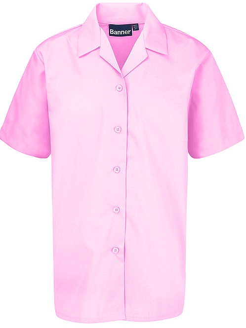 Pink Rever Blouses (Twin Pack)