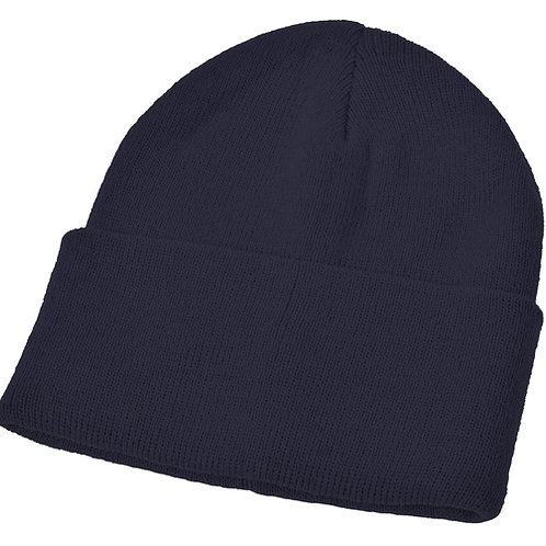 Navy Woolly Hat (Plain or Embroided)