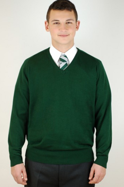 Green Courtelle Jumper with St Andrews Logo