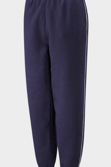 Navy PE Fleece Tracksuit Pants with Green Meadow Logo