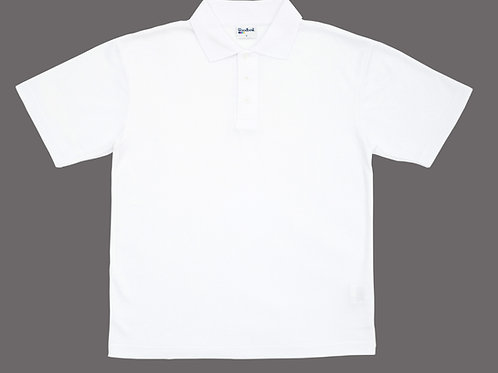 White Polo Shirt with Ganneys Meadow Logo