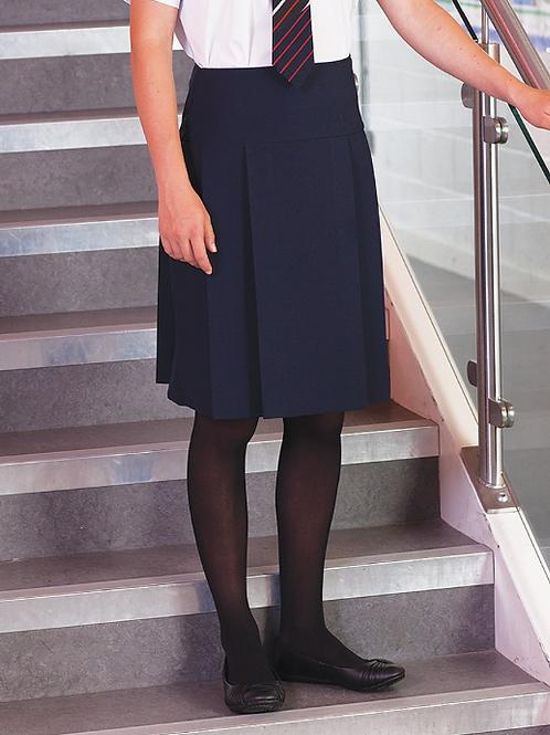 Navy Multipleat Senior Skirt